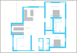 Floorplan for 5 Bedroom New Villa in San José Ibiza