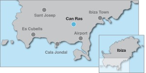 Map for Villa In San José Ibiza