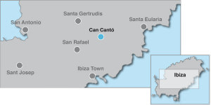 Map of 4 Bedroom Villa in Santa Gertrudis Ibiza