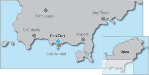 Villa Rental Cala Jondal Ibiza Map