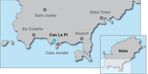 Villa Cala Jondal Ibiza Map