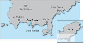 Villa Rental In Cala Jondal Ibiza Map